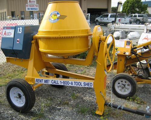 Where to find 9 CU FT TOWABLE GAS CONCRETE MIXER in San Jose