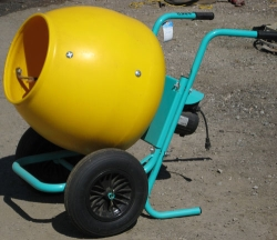 Used Equipment Sales 2 CU FT WHEEL BARROW CONCRETE MIXER in San Jose CA